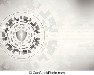 concept, schild, cyber, achtergrond., digitale , veiligheid, :