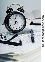 concept, schrijfwerk, tijd