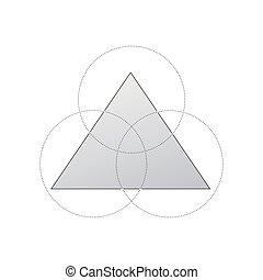 concept, segments., infographic, ontwerp, getallen, ontwerp, web, presentatie, 3, mal, cirkel, zijn, gebruikt, driehoek, zakelijk, workflow, opmaak, diagram, grafisch, opties, groenteblik, of