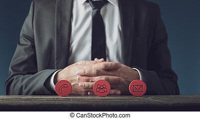 concept, service clientèle, business