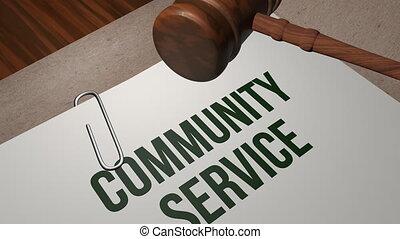 concept, service communauté, légal