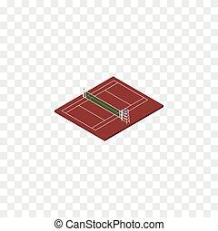 concept., siatkówka, wektor, siatkówka, czuć się, tenis, isometric., odizolowany, element, tenis, używany, może, projektować, plac gier i zabaw