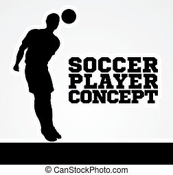 Concept Silhouette Soccer Player