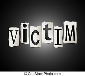 concept., slachtoffer