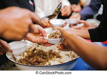 concept, société, famine, part, portion, poor:, nourriture