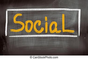 concept, sociaal
