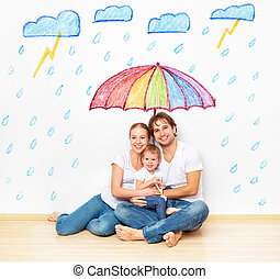 concept: social protection of family. family took refuge...