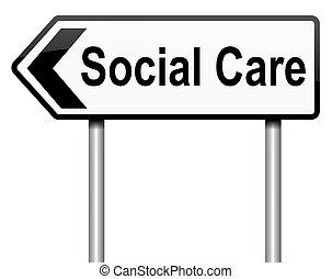 concept., social, soin
