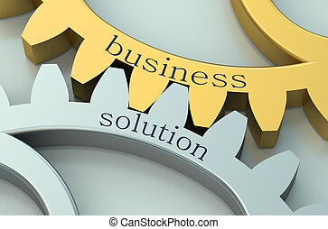 concept, solution, business, gearwheels