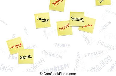 concept, solution., kruising, achtergrond., bevinding, probleem, uit
