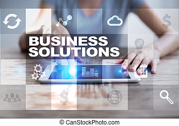concept, solutions, screen., business, virtuel