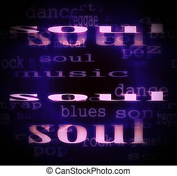 concept soul word background
