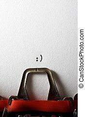 concept, sourire, vue