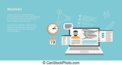concept, spandoek, webinar, online