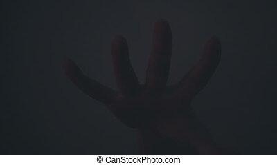 concept, spooky, horreur, cauchemar, scène, terrifiant, effet, fumée, dark., élément, atmosphere.