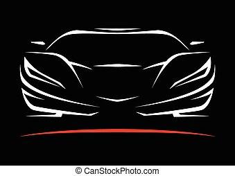 Sportscar Vehicle Silhouette - Concept Sportscar Vehicle ...