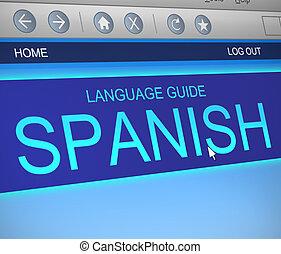 concept., sprache, spanischer