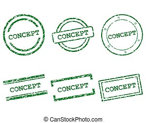 Concept stamps