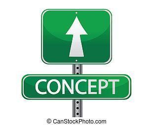 Concept street sign