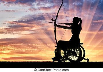 concept, style de vie, gens, mener, handicapé, actif