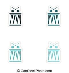 concept stylish paper sticker on white background Brazilian...