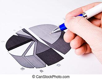 concept, succès financier, business, -, rapport