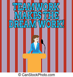 concept, success., work., texte, camaraderie, signification...