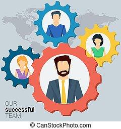 Concept successful team
