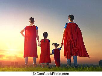 concept, super, family.