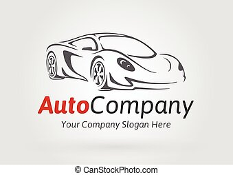 Concept super sports vehicle logo.