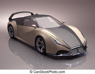 Concept Supercar - Concept car created with no basis in...