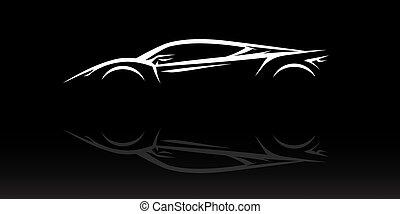 Concept supercar vehicle silhouette - Concept Supercar ...