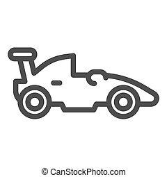 concept, symbole, course auto, arrière-plan., pictogramme, sport, mobile, voiture, signe, blanc, icon., vecteur, sports, toile, formule, graphics., véhicule, style, auto, ligne, course, design., contour
