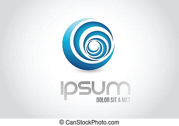 concept, symbole, illustration, eau, conception, logo