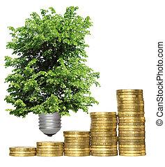 concept, symbolizing the economic efficiency of environmental technologies