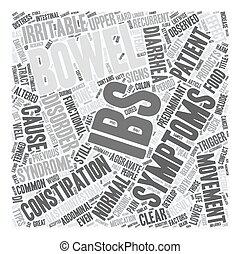 concept, syndrome, texte, expliqué, wordcloud, fond, ibs