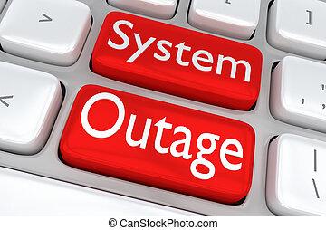concept, système, outage