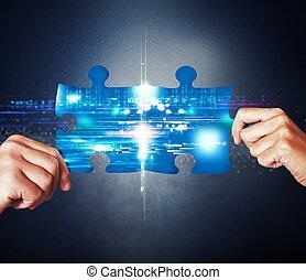 concept, systeem, integratie