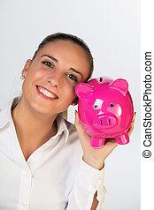 concept:, szerető, pénz, takarékbetét pénz