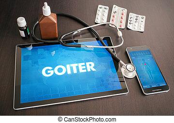 concept, tablette, Goitre, Monde Médical, (endocrine,...