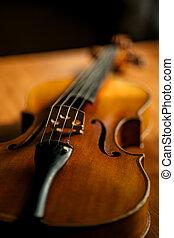 concept, tafel, muziek, viool