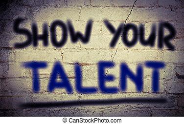 concept, talent, ton, exposition