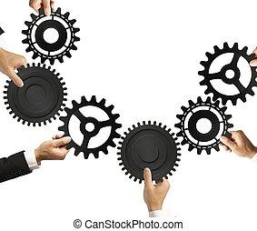 concept, teamwork, integratie