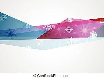 Concept tech winter Christmas background