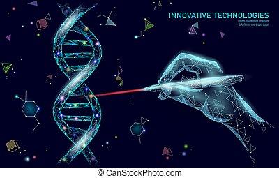 concept., technik, poly, 3d, heilung, innovation, vektor, ...