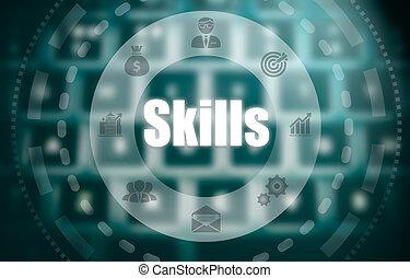 concept, techniques, sur, exposer, informatique, blured, ...