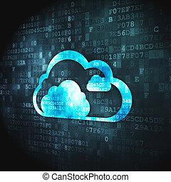 concept:, technologia, tło, chmura, cyfrowy