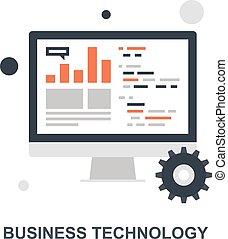 concept, technologie, business, icône