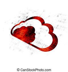 concept:, technologie, fond, nuage, numérique
