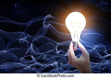 concept, technologie, idée